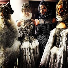 Backstage at Alexander McQueen, such a beautiful collection!