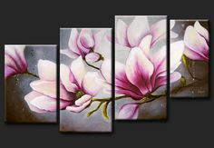 Abstract oil paintings painting floral still life new canvas wall art magnolia Multi Canvas Painting, Modern Oil Painting, Oil Painting Flowers, Abstract Flowers, Oil Painting Abstract, Painting & Drawing, Canvas Wall Art, Watercolor Paintings, Oil Paintings
