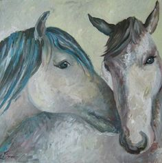 Blue Horse. Artist: Simona Zalinca  Contact: www.belladonart.wordpress.com