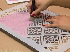 Wall Stencils & Chalk Paint Tutorial: Valentine's Day Wall Art Decor