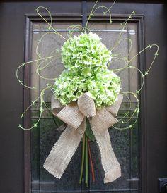 Spring and Summer Door Decorations   ... Wreath, Summer Spring Wreath, Hydrangea Wreaths, Burlap Door Decor