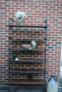 Industrial pipe shelving unit by ReclaimedGoods on Etsy, $400.00