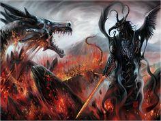 Image result for dark art dragons