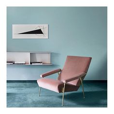 pastel interior via Gio Ponti, Interior Inspiration, Design Inspiration, Pink Couch, Pastel Interior, Aesthetic Light, Light Blue Walls, How To Make Curtains, Curtain Fabric