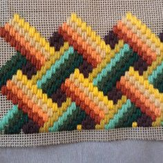Discover thousands of images about My sixth Bargello! Broderie Bargello, Bargello Needlepoint, Bargello Quilts, Needlepoint Stitches, Plastic Canvas Stitches, Plastic Canvas Crafts, Plastic Canvas Patterns, Cross Stitch Embroidery, Embroidery Patterns