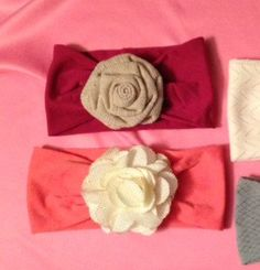 Baby headband spring headwrap with flower by reneescreations88