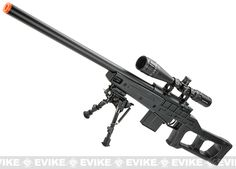 WELL MB4408A Bolt Action Airsoft Sniper Rifle - Black