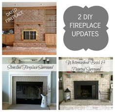 A quick, cheap, and easy way to update the old fireplace in your new home!