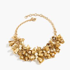 Floral bell necklace