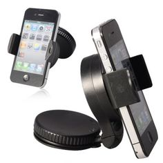 Car Gadgets Universal Mobile Phone Mount Windshield Car Holder  Black *** You can get more details by clicking on the image from Amazon.com