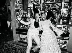 2 countries. 4 events. 6 outfit changes. When W Contributing Fashion Editor Giovanna Battaglia married Oscar Engelbert, her astonishing dresses nearly stole the show. Here, an exclusive look at their spectacular wedding.