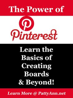 Pinterest Boards are YOUR Story - Tell it Well! Ideas, Tips, Suggestions Abound for Creating a High Profile Account with Your Boards!