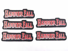 Lot of 5 HAMMER FALL Iron On Patch Embroidered Heavy Metal Rock Band Music  Sew  Unbranded cbcdff581b