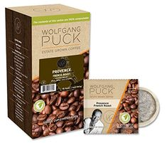 Wolfgang Puck Coffee, Provence, French Roast, 9.5 Gram Pods, 18-Count (Pack of 3)