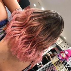 Ombre Blond, Pink Ombre Hair, Ash Blonde Hair, Hair Color Pink, Brown Ombre Hair, Curly Pink Hair, Pastel Hair, Pastel Pink, Hair Colors