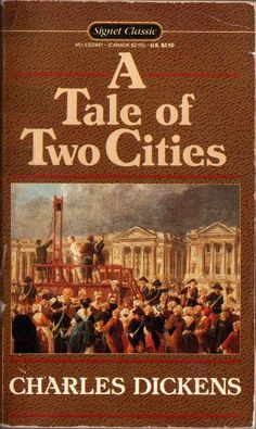 A Tale of Two Cities by Charles Dickens. I haven't actually finished this book yet, but I like what I've read of it!