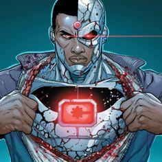 Cyborg comic drawings | Physical Characteristics