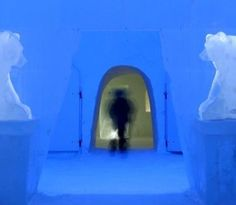 The Snow Hotel in the northern Finnish city of Kemi is made entirely of snow and ice.