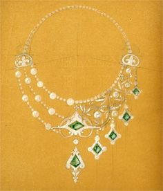 Early necklace design by Lalique.