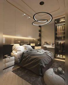 Small Room Design Bedroom, Small House Interior Design, Bedroom Closet Design, Bedroom Furniture Design, Home Room Design, Modern House Design, Bedroom Decor, Modern Luxury Bedroom, Luxurious Bedrooms