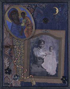 Midnight Madonnas by Artist Betye Saar Collage/Assemblage African American Artist, American Artists, African Art, Op Art, Elements Of Art Color, Betye Saar, Collage Art Mixed Media, Political Art, Feminist Art
