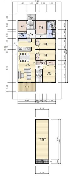 30坪3LDK小屋裏収納のある平屋の間取り   理想の間取り Diy And Crafts, Floor Plans, House, Home, Haus, House Floor Plans, Houses