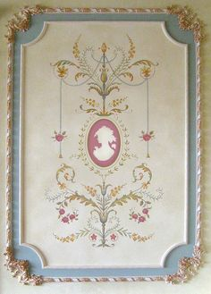 Elegant and classy Marie-Antoinette French Panel Stencil. Reusable 12 mil stencils with amazing level of detail.  MORE BEAUTIFUL WALL STENCIL DESIGNS, INSPIRATION AND DETAILED STENCILING TIPS FROM PROS AT   www.cuttingedgestencils.com
