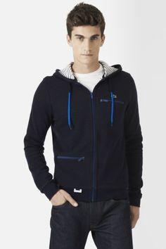 #Lacoste Double Face Hoody #Sweatshirt with Inside #Stripe