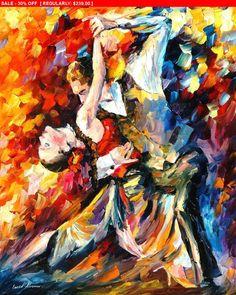 Tango In Paris  tango oil painting on canvas by AfremovArtStudio