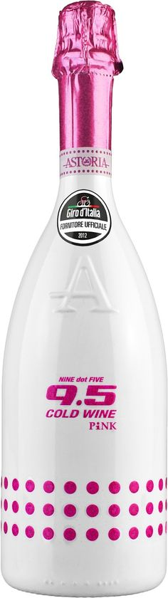 """Giro: Celebrating on the Podium with Astoria 9.5 Cold Wine PINK - """"Fight for Pink'' is the slogan of the Giro d'Italia and once a stage is over the winner will celebrate on the podium with a bottle of Astoria 9.5 Cold Wine PINK.  #Giro #Giroditalia"""