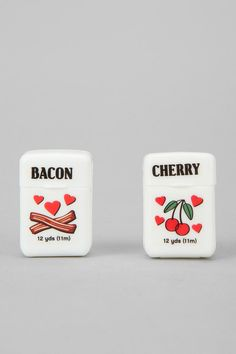 His and hers dental floss. As long as you use it - flavor doesn't matter to us! #DeltaDental