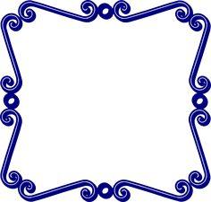 blue frame png | Blue Frame clip art - vector clip art online, royalty free & public ...