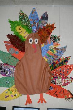 "This was super fun!  Each of my students took a feather home and decorated it with the things they are thankful for.  They brought them back and we made a ""thankful turkey"" for our classroom!"