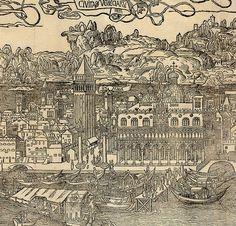 Erhard Reuwich - City of Venice (1486); from: Breydenbach B., Sanctarum peregrinatiorum in montem Syon ad venerandum Christi sepulchrum in Jerusalem [...] opusculum..