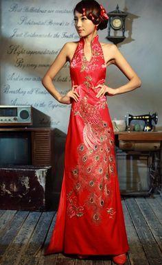 Custom Made Chinese #Qipao - Cheongsam Wedding Dress