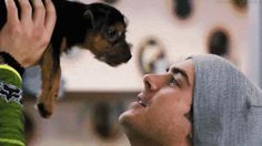 When Zac Efron blew kisses at this little guy and you actually swooned.   27 Times Hot Guys And Dogs Were A Match Made In Heaven
