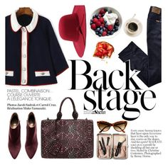 """""""back stage"""" by punnky ❤ liked on Polyvore featuring H&M, Bobbi Brown Cosmetics and 7 For All Mankind"""
