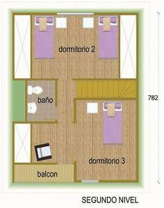 Plano de casa de madera de 4 dormitorios y dos pisos
