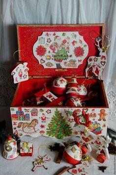 """Купить Сундук """"Новогодний"""" - сундук, ящик для хранения, ящик для игрушек, короб для хранения, короб, для игрушек"""