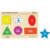 Colors & Shapes Bilingual English Spanish Puzzle