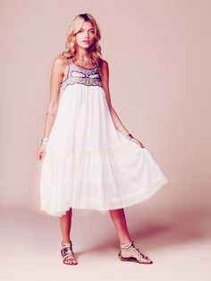 Free People Kristal's Limited Edition White Summer Dress at Free People Clothing Boutique