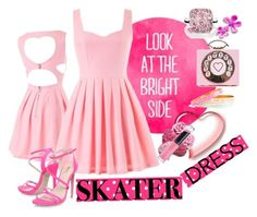 """""""Summer Style Cutout Skater Dress"""" by westcoastcharmed ❤ liked on Polyvore featuring Revlon and skaterdress"""