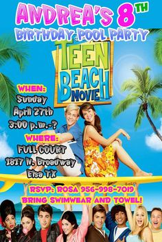 Teen Beach Movie Birthday Party Ideas | Photo 2 of 17 | Catch My Party