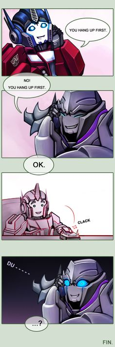 Telephone by Lanveril on DeviantArt. Look at little Orion and Megatronus!