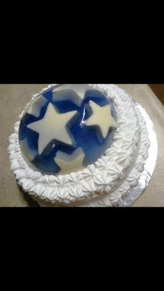Gelatin topped cake