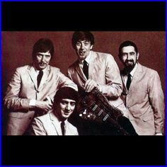 John Mayall's Bluesbreakers. L - R: Eric Clapton, John McVie, John Mayall and Hughie Flint