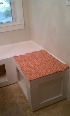 Benches for nook-open under because of vents