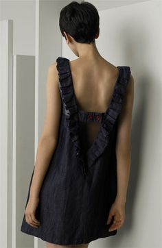 See by Chloé Ruffle Trim Denim Dress | Nordstrom