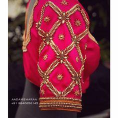 New Saree Blouse Designs, Simple Blouse Designs, Dress Neck Designs, Hand Work Design, Hand Work Blouse Design, Maggam Work Designs, Hand Work Embroidery, Designer Blouse Patterns, Pearl Design