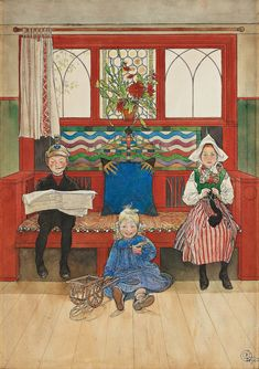 Orenco Originals Swedish Carl Larsson Lillana in Window Crocus Counted Cross Stitch